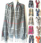 New Women Blanket Oversized Tartan Scarf Wrap Shawl Plaid Cozy Checked Pashmina
