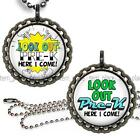 Watch Out Pre-K School Children's Bottle Cap Necklace Chain Handcrafted Jewelry