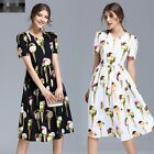 2017 Hot Occident wholesale fashion Short sleeve personality printing Dress