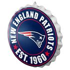 NFL Football Team Logo Bottle Cap Wall Sign - Choose Team