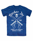 Murder Inc. T-Shirt BLAU Mafia,Pate,Public,Enemy,Outlaw,Al Capone,Crime,Cocaine
