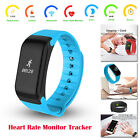 Waterproof Bluetooth Smart Watch Wristband Pedometer Heart Rate For iOS Android