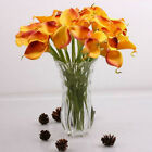 10pcs Real Touch Fake Silk Flower Artificial Calla Lily Seeds Party Decor Beauty