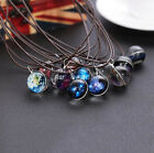 Galaxy Space Universe Glow In The Dark Charm Pendant Necklace Jewelry Fashion