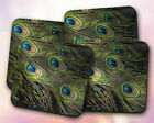 Miscellaneous // Peacock Feathers, Emerald, Teal, Neat // Coaster [NEW!] 3