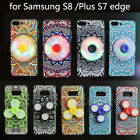 Fidget Hand Spinner LED Lights Stress Relief + Chinese Style Phone Case Cover S8