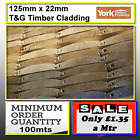Amazing 125mm x 22mm Log Lap Cladding Shed Cladding Stable Cladding 100m minimum