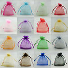 "100pcs 9x12cm Organza Wedding Favour Gift Bags Jewellery Pouches 3.7""x4.7"""
