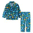 Pyjamas Boys Winter Long Cotton Flannel  Pjs (Sz 3-7) Set Green Dinosaurs (756)