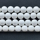 "5A White Natural Shell Round Loose Beads 15.5"" Inches Strand 4 6 8 10 12 14 16mm"