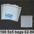 5 x 5 135 x 135mm Clear Cello Card Bags Cellophane Display Bag for Cards Photos