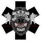 Tactical SWAT Medic Star of Life Reflective Decal Sticker Paramedic EMS Police