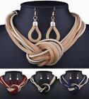 Fashion Women Chain Chunky Choker Necklace Earrings Set Statement Party Jewelry