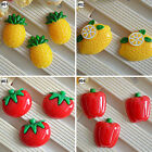10PCS Mixed Fruit Vegetable Cartoon Resin Flatback Cabochon For Craft Decoration