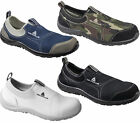 Mens/Womens Delta Plus Miami Slip On Canvas Safety Steel Toe Shoes Sizes 3 to 11