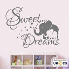 Wall Stickers Sweet Dreams Elephants Cute Stars Nursery Kid Art Decal Vinyl Room