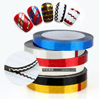 1 Roll Saw Zigzag Striping Tape Metallic Yarn Wave Line Nail Art Tips Decoration