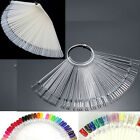 Nail Art 50 False Display Fan Wheel Polish Practice Tip Sticks Design Decor Sets