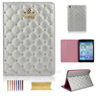 Luxury Crown Slim Smart Wake Leather Case Cover For iPad 5th Gen 2017/Air 2/Mini