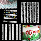 6X Fondant Cake Decorating Mold Alphabet Number Letter Sugarcraft Cutter Mould