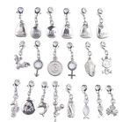 20PCS Silver Tone Mixed Clip On Charms Fit Chain Bracelet #91827