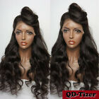 lace front wigs for black hair - Long Wavy Synthetic Lace Front Wigs Black for Fashion Women Baby Hair Hot Sale