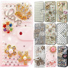 Shiny Rhinestone Leather Flip Wallet Protective Case Cover Cute Cases For HTC