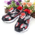 Marvel Avengers Spider Man Home Coming Light Up Comfortable Kids Boys Shoes