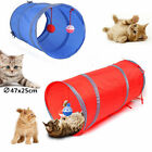 Cat Kitten Pop Up Play Tunnel Playing Toy Collapsible Tunnel & 2 Suspend Ball AF