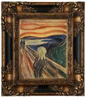 Munch The Scream 1910 Wood Framed Canvas Print Repro 8x10