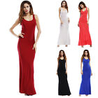 Women's Casual Lady Summer Beach Sexy Halterneck Solid Color Sleeveless Dresses