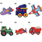1/10PCS Embroidered Sew On Patches Plane Car Transfer Fabric Clothes Applique