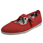 Flossy Bailen Women's Classic Casual Slip-On Mary Jane Espadrilles Plimsoles Red