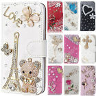 Luxury Bling Diamond Flip Case Leather Wallet Stand Cover For iPhone 5 6s 7Plus