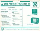 Sams Photofact Folder Set 965 - TV Radio Phonograph