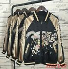 Womens BF Style unisex embroidery Floral Loose Casual Coat Jackets 2sides Wear