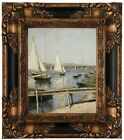 Caillebotte Sailing Boats Argenteuil 1888 Wood Framed Canvas Print Repro 8x10