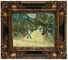 van Gogh Entrance to Public Gardens Arle Wood Framed Canvas Print Repro 8x10