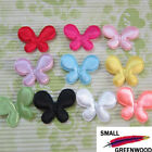 "(U Pick) Wholesale 100-500 Pcs. 1-3/4"" Padded Satin Butterfly Appliques B0930A"