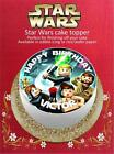Personalised Star Wars Cake Topper on Edible Icing or Rice Paper £3.99 GBP