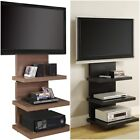 TV Stand with Wall Mount 3 shelf Black Brown 60 entertainment center flat panel
