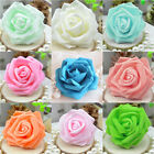 New 100 Foam Rose Heads Artificial Flowers Wedding Bride Bouquet Party Decor Diy