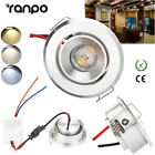 3W High Power Ceiling Light LED COB Recessed Lamp Mini Downlight AC 85V-265V