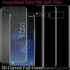 3D Full Cover Front/Back Screen Protector For Samsung Galaxy S8 Plus Soft Flim