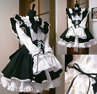 Halloween Gothic Lolita Cosplay Costume Sissy Maid Dress Custom Made