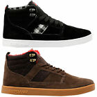 Supra Mens Bandit Lace Up Active Gym Hi Top Black Plaid Brown Casual Trainer