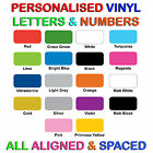 Vinyl Letters/Numbers Personalised Custom Sticker Shop/Car/Van/Boat/Sign/Logo