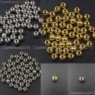 Stainless Steel Round Ball Spacer Jewelry Crafts Findings Beads 4mm 5mm 6mm 8mm