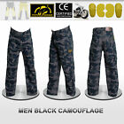 Men Motorbike Camouflage Pants With Protective Lining And CE Approved Armour