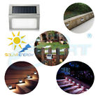 STAINLESS Solar Power LED Step Stair Light Garden Yard Pathway Fence Wall Lamp